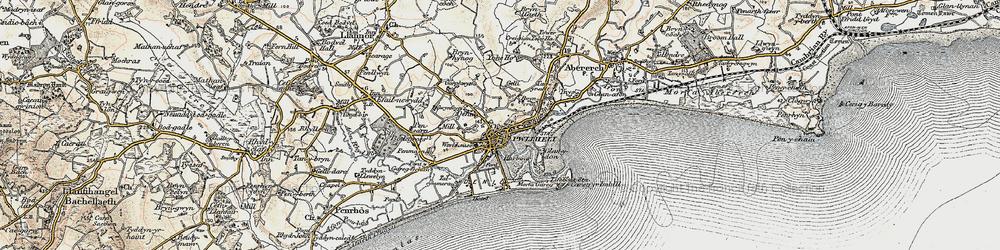 Old map of Allt Fawr in 1903