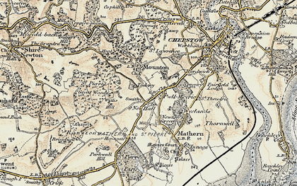 Old map of Willis Hill in 1899