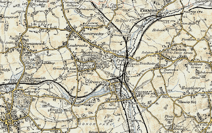 Old map of Pye Bridge in 1902