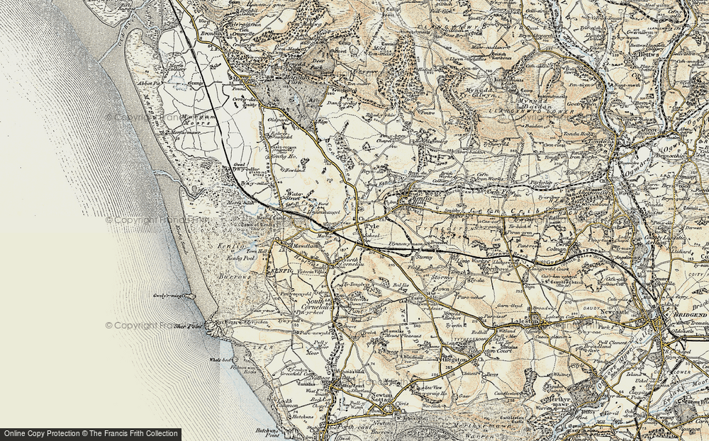Old Map of Pyle, 1900-1901 in 1900-1901