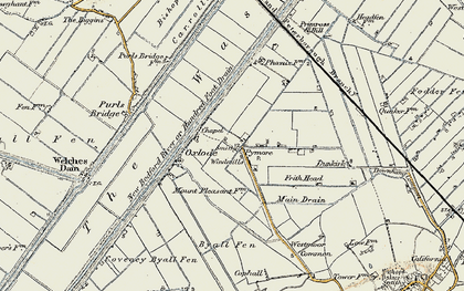 Old map of Pymore in 1901