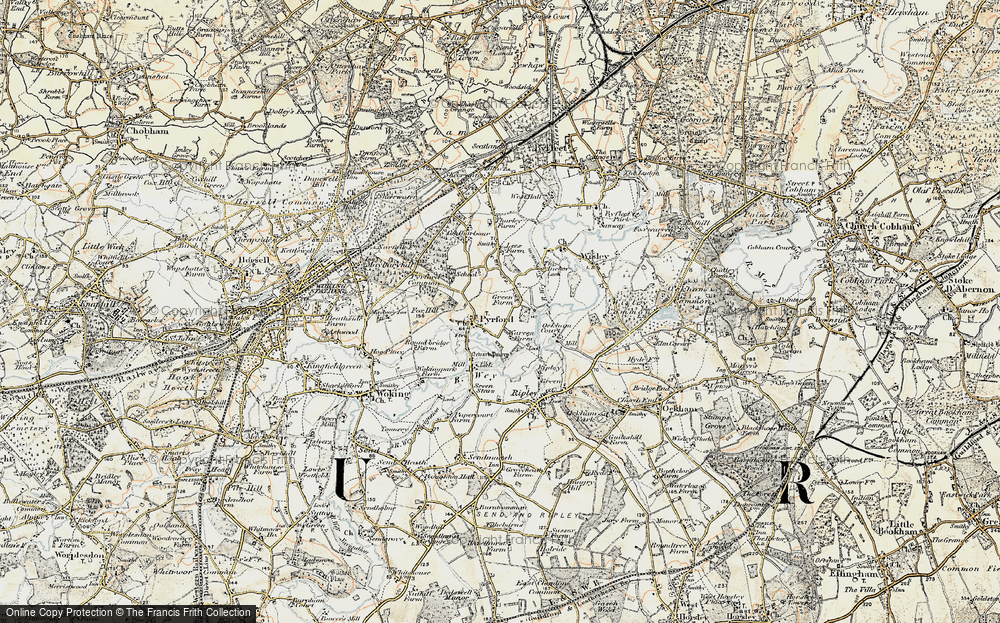 Old Map of Historic Map covering Newark Priory in 1897-1909