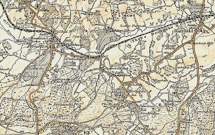 Old map of Ashdown Ho (Sch) in 1898-1902