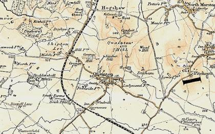Old map of Quainton in 1898