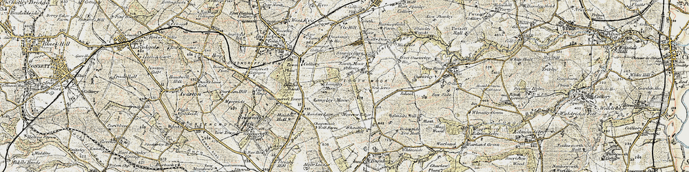 Old map of Wheatley Hill in 1901-1904