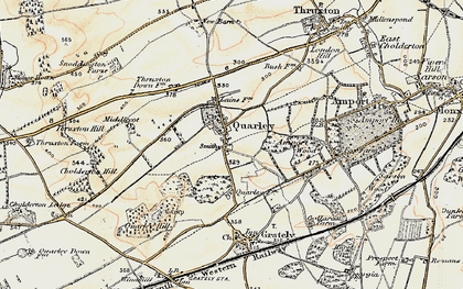 Old map of Amport Wood in 1897-1899