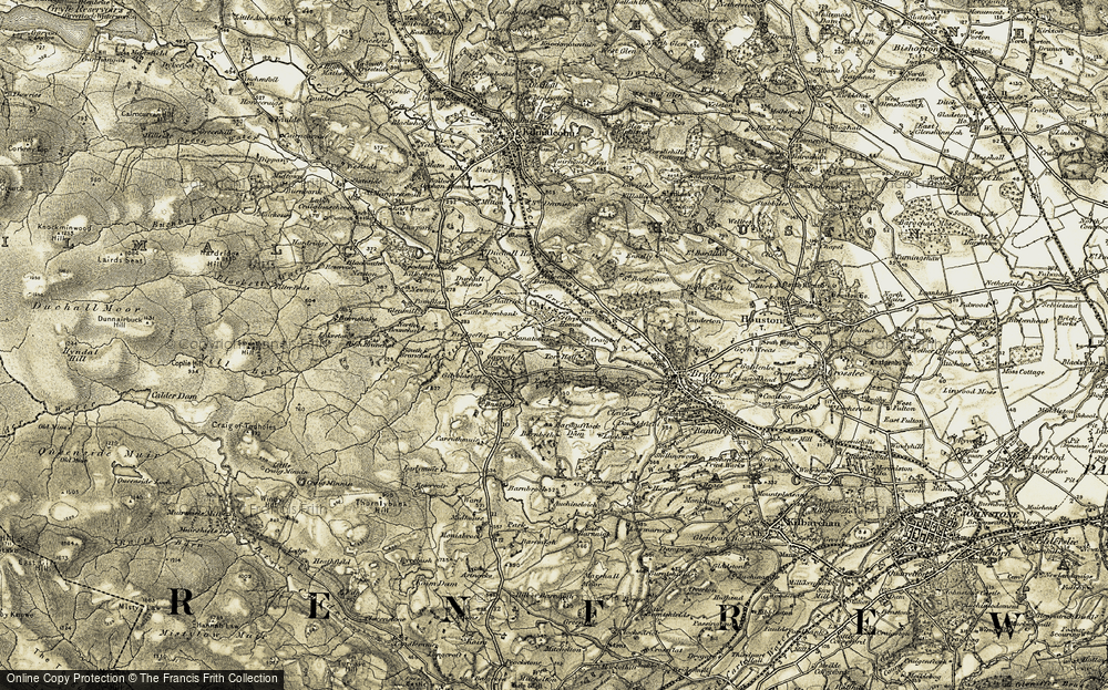 Old Map of Historic Map covering Bankbrae in 1905-1906