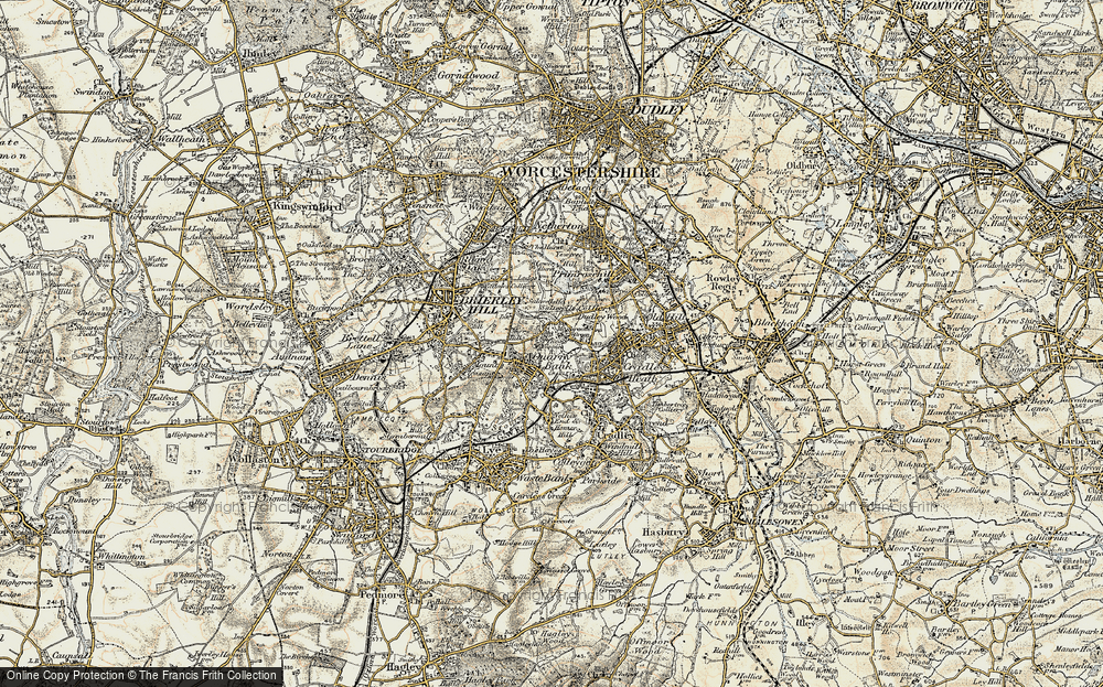 Old Map of Quarry Bank, 1902 in 1902