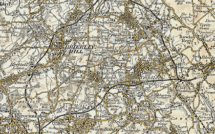Old map of Quarry Bank in 1902