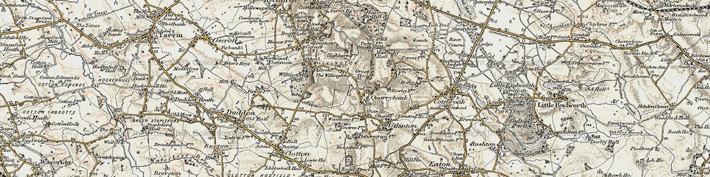 Old map of Willingtons, The in 1902-1903