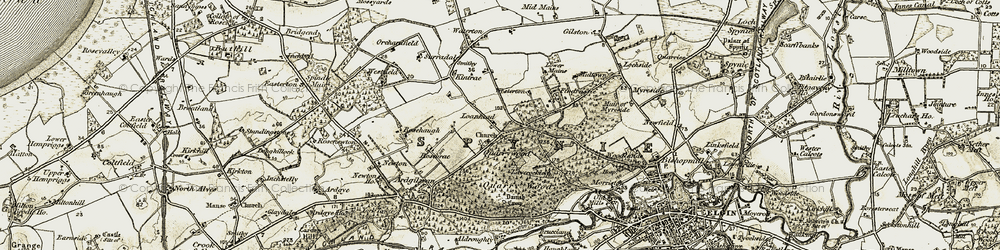 Old map of Westerton in 1910-1911