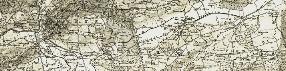 Old map of Altina Cottage in 1906-1908