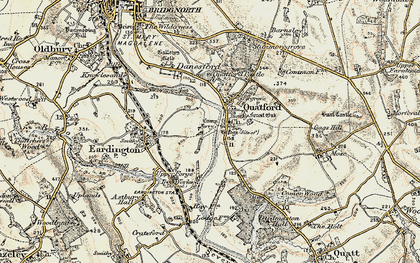 Old map of Quatford in 1902