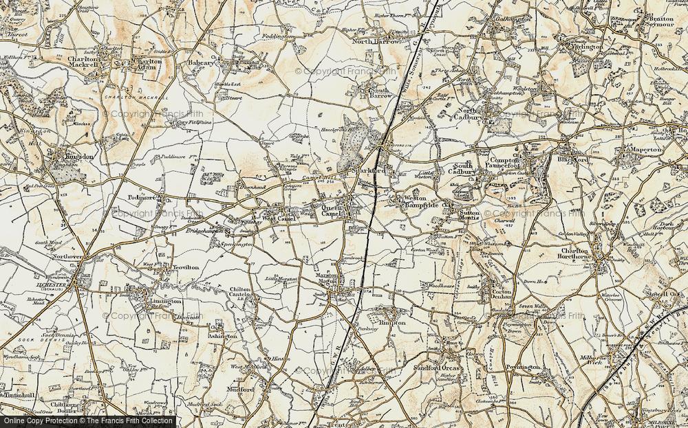 Old Map of Queen Camel, 1899 in 1899