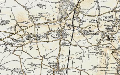 Old map of Queen Camel in 1899