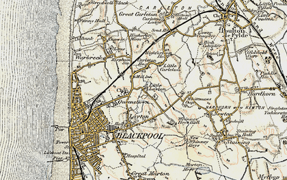 Old map of Queenstown in 1903-1904