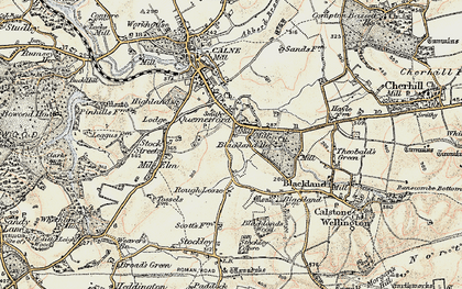 Old map of Quemerford in 1899