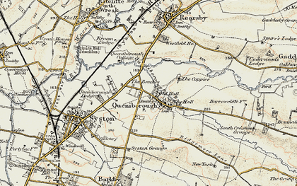 Old map of Queniborough in 1902-1903