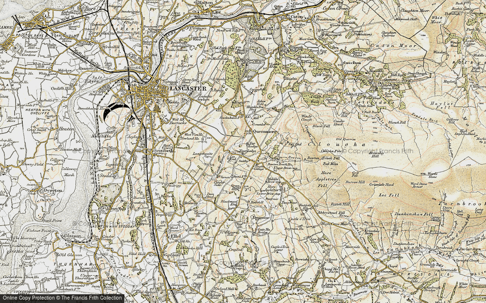 Old Map of Historic Map covering Askew Hill in 1903-1904