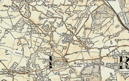 Old map of Ashampstead Common in 1897-1900