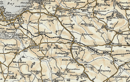 Old map of Quintrell Downs in 1900
