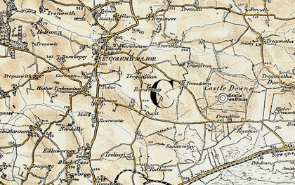 Old map of Quoit in 1900