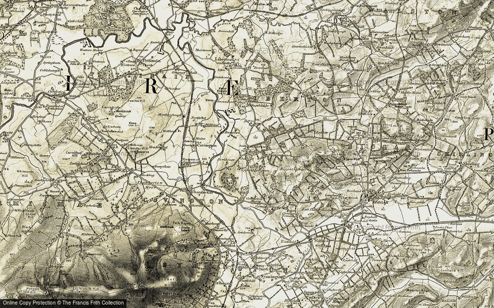 Old Map of Historic Map covering Lilyvale in 1904-1905
