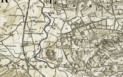 Old map of Lilyvale in 1904-1905