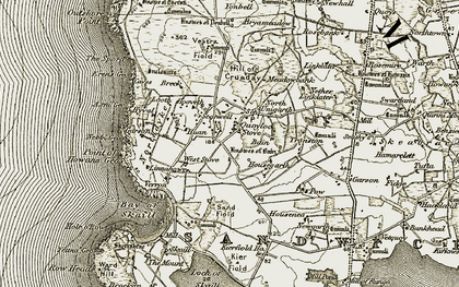 Old map of Yonbell in 1912