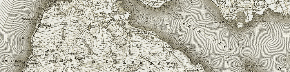 Old map of Western Horn in 1912