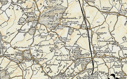 Old map of Rableyheath in 1898-1899