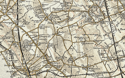Old map of Raby in 1902-1903