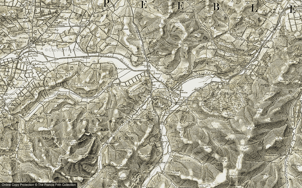Old Map of Historic Map covering Whitslade Hill in 1903-1904