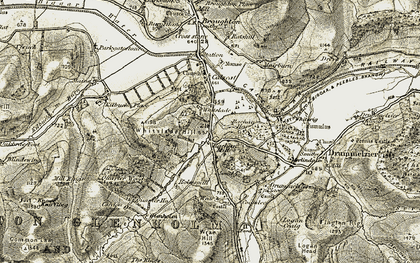 Old map of Whitslade in 1903-1904