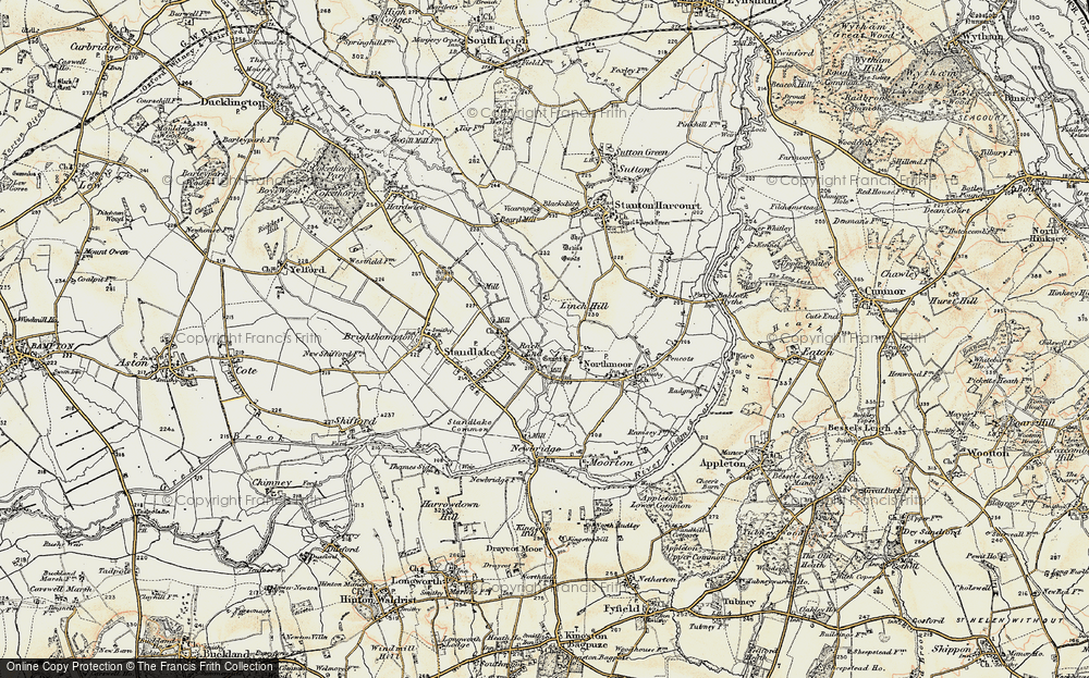 Old Map of Historic Map covering Linch Hill in 1897-1899