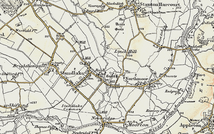 Old map of Linch Hill in 1897-1899