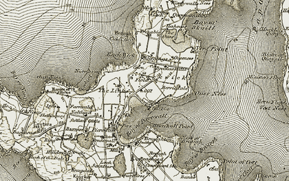 Old map of Windywalls in 1912