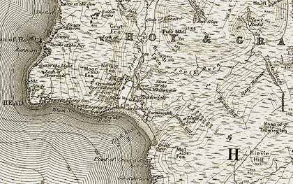 Old map of White Chest in 1912