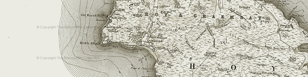 Old map of Too of the Head in 1912