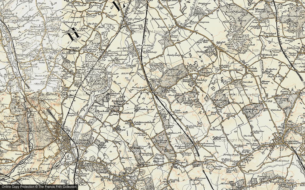 Old Map of Radlett, 1897-1898 in 1897-1898