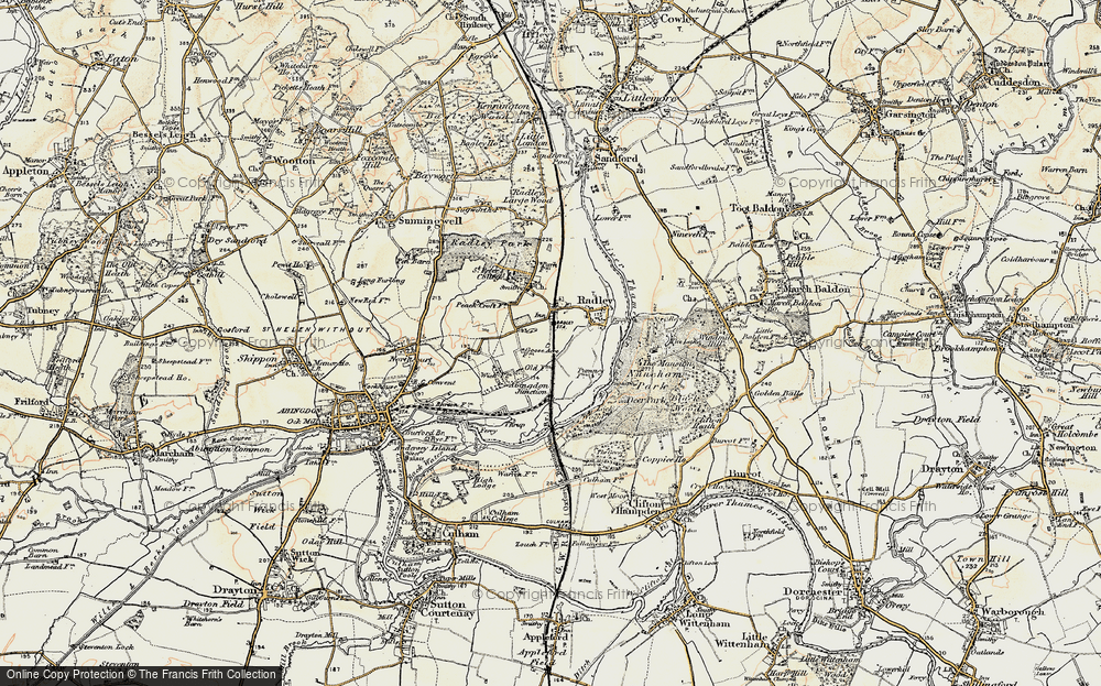 Old Map of Radley, 1897-1899 in 1897-1899