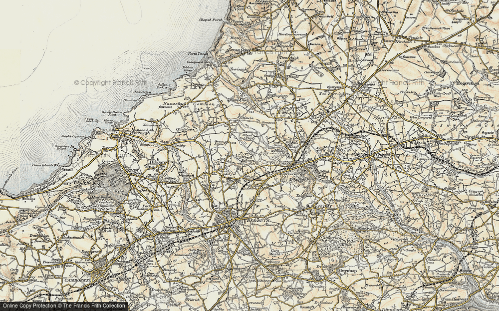 Old Map of Radnor, 1900 in 1900