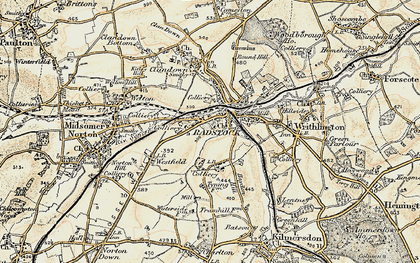 Old map of Radstock in 1899