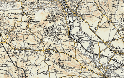 Old map of Radyr in 1899-1900