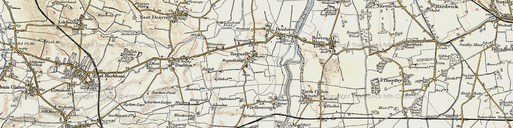 Old map of Whimpton Village in 1902-1903