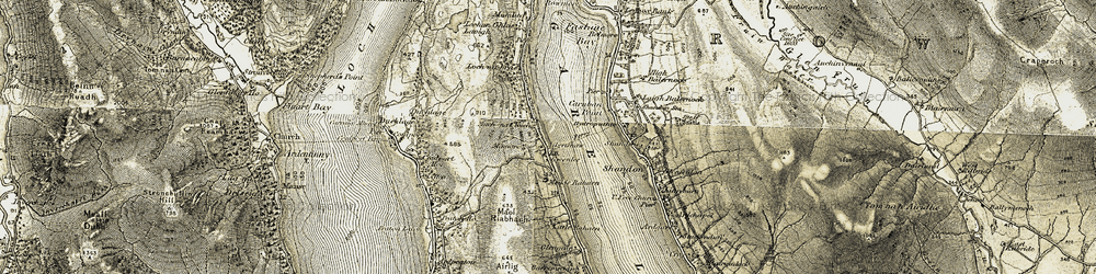 Old map of Aikenshaw in 1905-1907