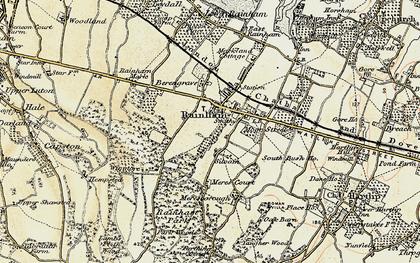 Old map of Rainham in 1897-1898