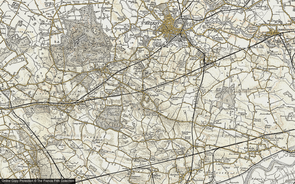 Old Map of Rainhill, 1903 in 1903