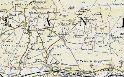 Old map of Acres in 1903-1904