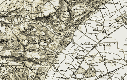 Old map of Balmyre in 1907-1908